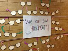 Homophones! Write one in one frame with a sentence and the other in the other frame with a sentence.