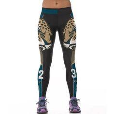 Women Sporting Uniforms Leggings American NFL Sportswear Workout Pants