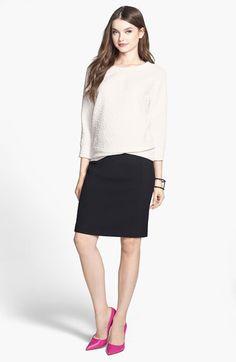 Halogen® Rosette Detail Sweatshirt (Regular & Petite) | Nordstrom