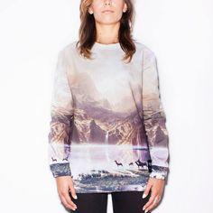 Mountain Print // Sweater // Breaking Rocks