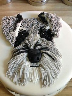 Schnauzer cake! No link, just a picture.