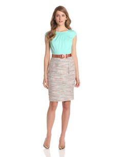 Nine West Dresses Women's Belted Solid Print Dress, Minted Ice Combo, 2 Nine West,http://www.amazon.com/dp/B00ANOMNIU/ref=cm_sw_r_pi_dp_38zZrb0NKHHVJ3XG