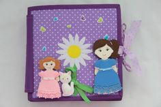 Quiet book #2 A Doll's House / Developing books for children / Fabric an...