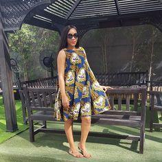 Kiki's Fashion African print summer dress… More African Dresses For Women, African Print Dresses, African Print Fashion, African Attire, African Wear, African Fashion Dresses, African Women, African Prints, Nigerian Wedding Dresses Traditional
