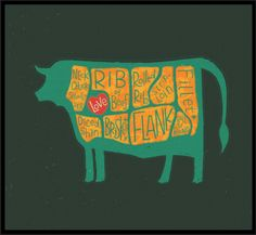 COWS are really MEATY by Steve Simpson, via Behance