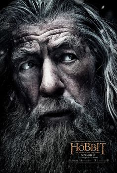 The Hobbit: The Battle of Five Armies - Gandalf character poster #TheHobbit
