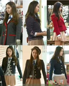 School uniform- korean style preppy looks Kpop Outfits, Casual Outfits, Fashion Outfits, Womens Fashion, Jessica & Krystal, Krystal Jung, Fancy Wedding Dresses, Korean Girl Fashion, College Outfits