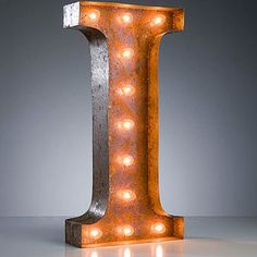 """I"" Marquee Light, $159, now featured on Fab."