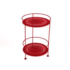 Small+Table+Perforated+Ø40,+Chili,+Fermob