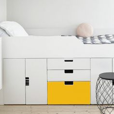 Small Lounge Rooms, Bedroom Decor For Small Rooms, Big Girl Bedrooms, Kids Bedroom, Tiny Bedroom Design, Teen Bedroom Designs, Home Room Design, Bed Design, Bed With Drawers Underneath