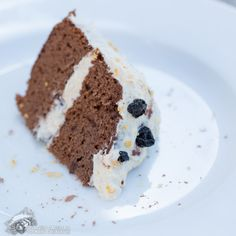 Chocolate Blueberry Cake with Mango Cinnamon Frosting