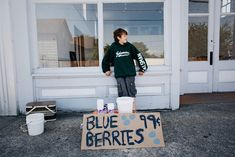 Here's our first throwback photo of our son, Wylie, selling blueberries for 99 cents in the heart of Edison back in 2011. Over the next week we will be taking you on a trip down memory lane from then until now. #throwback #overtheyears