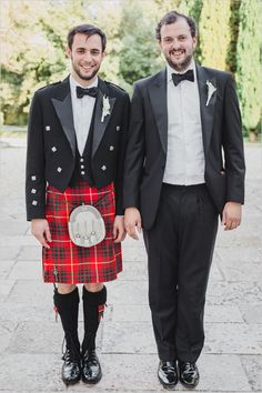Traditional wedding-kilt at a the wedding.