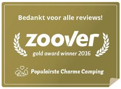 Zoover gouden award populairste charme camping