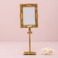Rectangular Baroque Standing Frame - Gold - CREATIVE BAG CO LTD