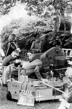 Michelangelo Antonioni with his crew during the shooting of Blow-Up in London, 1966