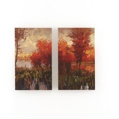 2 Piece Painting Print on Canvas Set