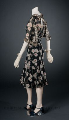 Afternoon Dress  Coco Chanel, 1937  The FIDM Museum