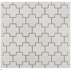 ann sacks crois mosaic tile in white
