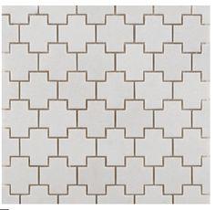 ann sacks crois mosaic tile in white