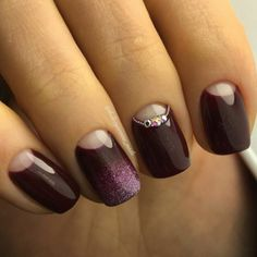 + 66 Gel Half-moon nails photos 2018