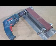 Homemade Mini Grinder Belt Wheel With DIY Heads Spindle with hand Drill
