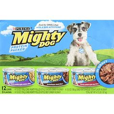 Purina Mighty Dog Wet Dog Food, 3 Flavor Variety Pack In Gravy (Chicken/Beef/Tenderloin), Can, 2 Packs of Contains: cans of Thick-Sliced Chicken Dinner, cans of Thick-Sliced Beef Dinner & cans of Tenderloin Tips Flavor in Gravy Wet Dog Food, Puppy Food, Cat Food, Food Food, Dog Gravy, Porterhouse Steak, Large Dog Crate, Canned Dog Food, Dog Varieties