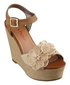 Dark Natural Tiara Wedge Sandal...wish the heel was a bit lower