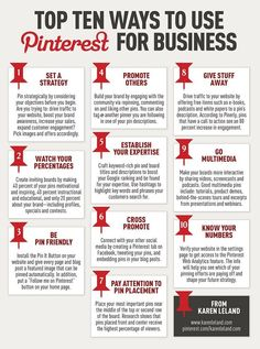 New to Pinterest? 10 Ways To Add it To Your Marketing  -- Top 10 Ten Ways to use Pinterest for Business