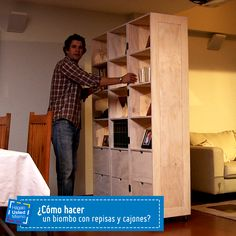 ¿Cómo hacer un biombo con repisas? #Sodimac #Homecenter #HágaloUstedMismo #DIY #HUM