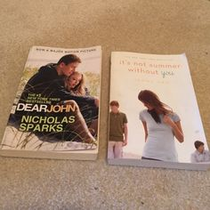 """2 Great Books """"Dear John"""" and """"It's not summer without you"""" 2 AMAZING books! Accessories"""