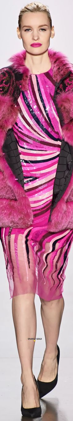 Dennis Basso Fall 2020 RTW Dennis Basso, Just Be Happy, Love Sparkle, Colorful Fashion, Magenta, Love Her, Rose, Glamour, Black Style