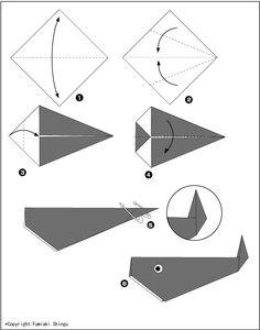 Картинки по запросу оригами кит для детей