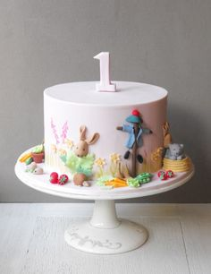 Beatrix Potter First Birthday Cake