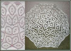 Parasols with charts-Picasa Webalbums Crochet Diagram, Crochet Chart, Thread Crochet, Filet Crochet, Lace Knitting, Diy Crochet, Crochet Doilies, Knitting Patterns, Crochet Patterns