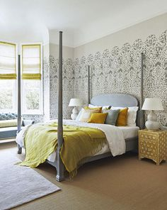 Grey bedrooms with sunny personalities