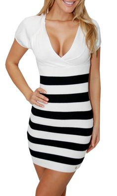 GreatGlam Striped Bottom Dress