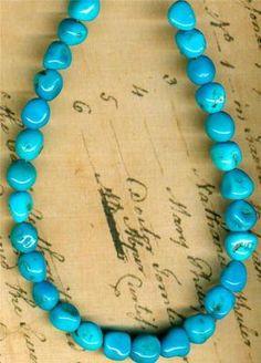 "Sleeping Beauty Turquoise Beads Genuine 100 Natural 8"" American Southwest | eBay"