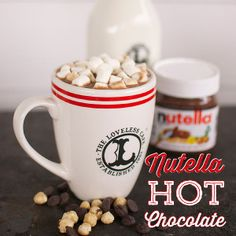 Make this immediately! Nutella Hot Chocolate for the win.