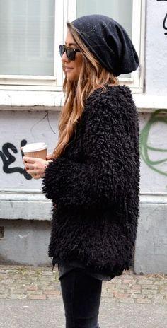 #winter #fashion / black everything