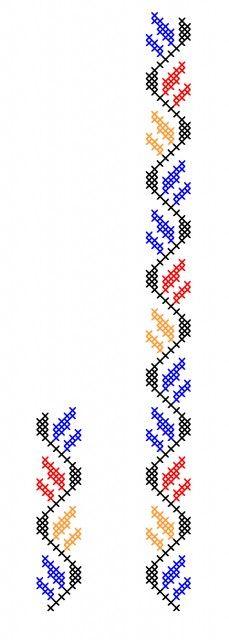 FL263 Cross Stitch Borders, Cross Stitch Flowers, Cross Stitch Designs, Cross Stitching, Cross Stitch Embroidery, Hand Embroidery, Cross Stitch Patterns, Embroidery Designs, Chicken Scratch