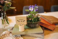 sweet and simple centerpieces // photo by SerendipityCornerBlog.com.au