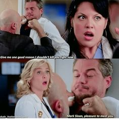 Mark Sloan, pleasure to meet you Greys Anatomy Episodes, Greys Anatomy Funny, Greys Anatomy Facts, Grays Anatomy Tv, Grey Anatomy Quotes, Mark Sloan, Best Tv Shows, Favorite Tv Shows, House Md Quotes