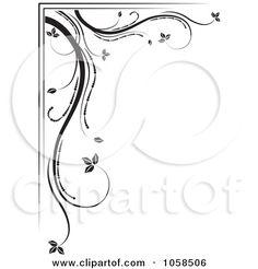 clip art black and white   Black And White Design Floral Clip Art   Joy Studio Design Gallery ...