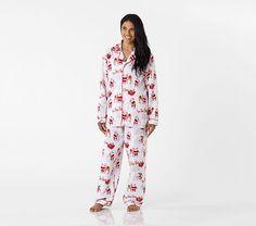 5854dfb692 Adult Heritage Santa Flannel Pajama. Flannel PajamasKids PajamasChristmas  ...