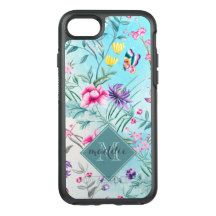 Chinoiserie Floral Pattern OtterBox Symmetry iPhone 7 Case