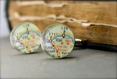 Ready to Ship  Vail Colorado Map Cufflinks by dlkdesigns on Etsy, $50.00 wedding gift for peter?