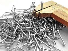"1//2"" Solid Brass Brads 200pcs Small Head 18 gauge Escutcheon pins Europe made"