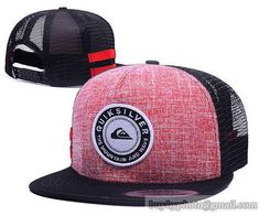 QUIKSILVER Mesh Snapback Hats Quick-drying cap 010 1be26b7c5a8