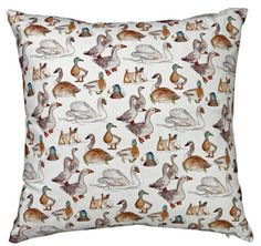 Duck Print Cushion £43.25 inc. UK postage. For full details please see website www.cushionsbydesign.co.uk